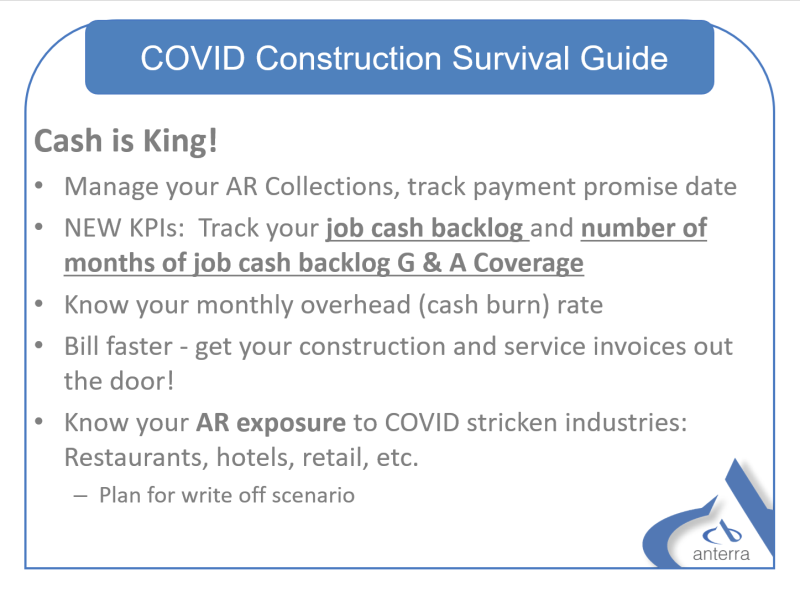 Construction COVID-19 Survival Guide - Cash in King!