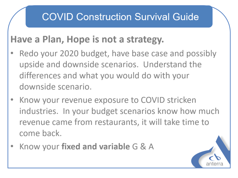 COVID-19 Construction Survival Guide - Have a Plan, Hope is not a strategy.